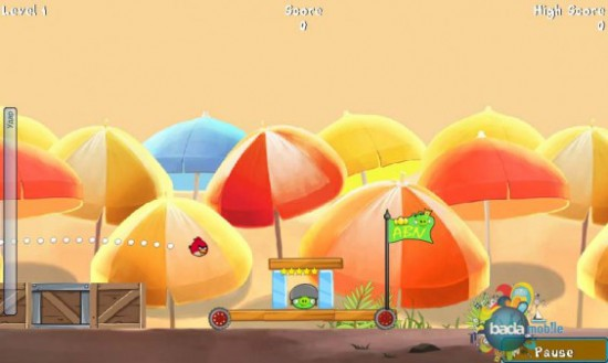 Chaos Theatre: Angry birds for Bada available for download