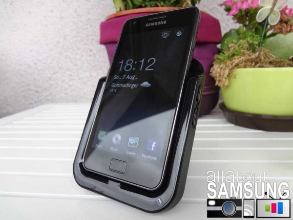 dock sgs2 front 600x450 [Review] Originale Docking Station für das Samsung Galaxy S2