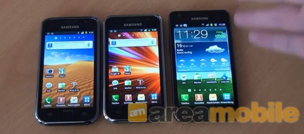 sgs sgsplus sgs2 benchmark 600x265 [Video] Samsung Galaxy S vs. Galaxy S Plus vs. Galaxy S2 Benchmark