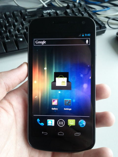 Nexus Prime front [Video] Hands On Video und Screenshots des kommenden Samsung Galaxy Nexus aufgetaucht