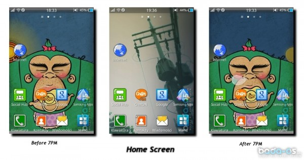 homescreen 600x316 [Video] Samsung Wave M mit Bada 2.0 im Hands On