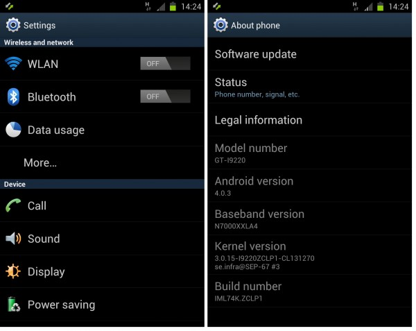 3 Steps Only to Flash Samsung Galaxy Note ICS 4.03 I9220 ZCLP1 Rom, [CF-Rooted,CWM5,240DPI,SMemo Fix,Silence Camera included] 中英對照 [22/2 Updated]