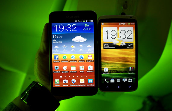 Galaxy Note vs HTC One X