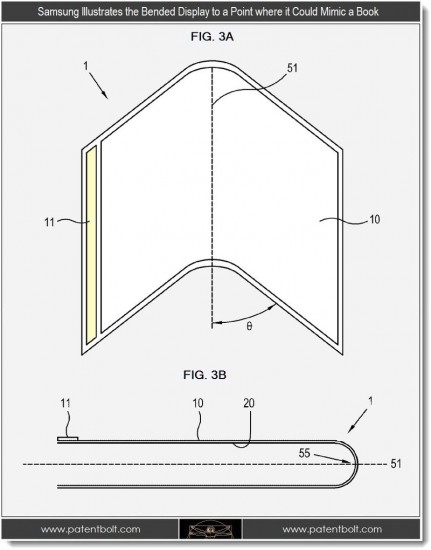 flexiblebookdisplay 431x550 Samsungs Patent auf flexible AMOLED Displays