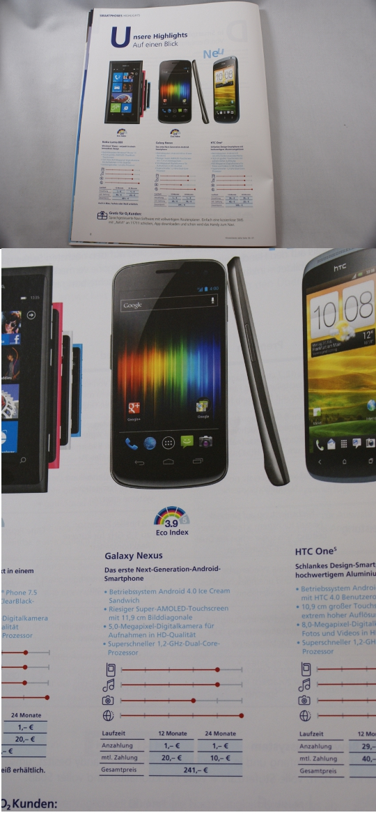 o2 prospekt galaxy nexus 241 1 [DEAL] Samsung Galaxy Nexus für 241 Euro