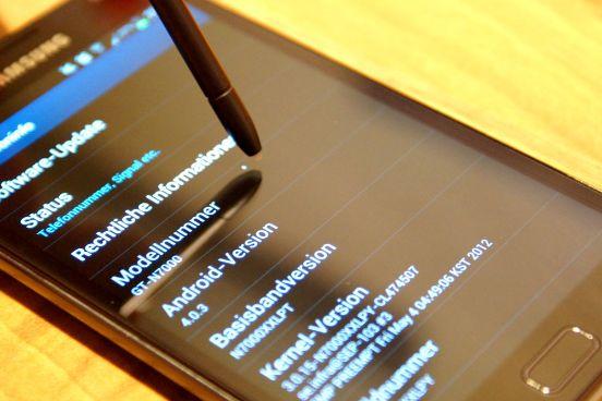 Android 4.0 auf dem Samsung Galaxy Note