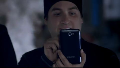 GalaxyNote ad 1 James Franco wird von dem Galaxy Note gejagt (Video)