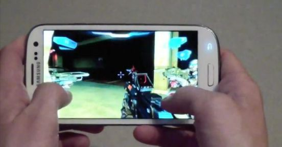 GalaxyS3 Gaming Samsung Galaxy S3 Gameplay Video   Spiele auf dem Quad Core Boliden