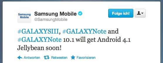 Galaxy S3 update Samsung Galaxy S3, Galaxy Note 10.1 und Galaxy Note bekommen bald Android 4.1