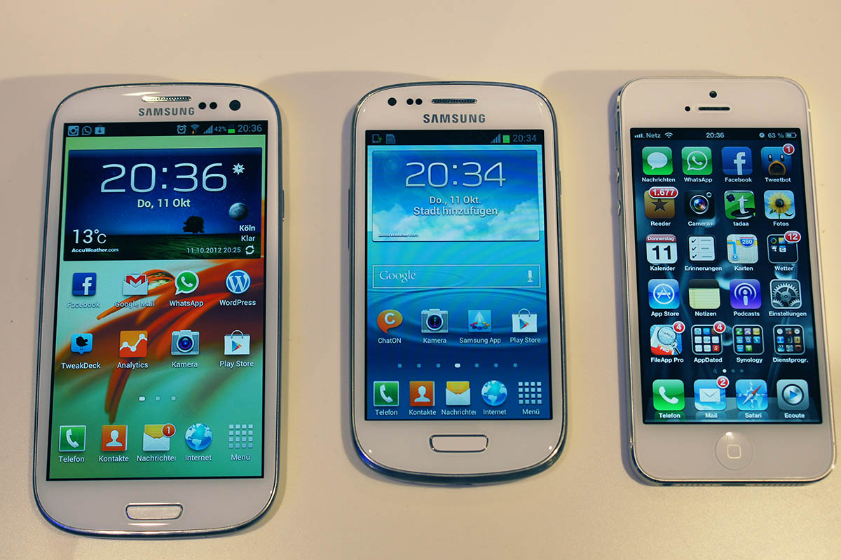 Samsung galaxy s iii galaxy s iii mini und iphone 5
