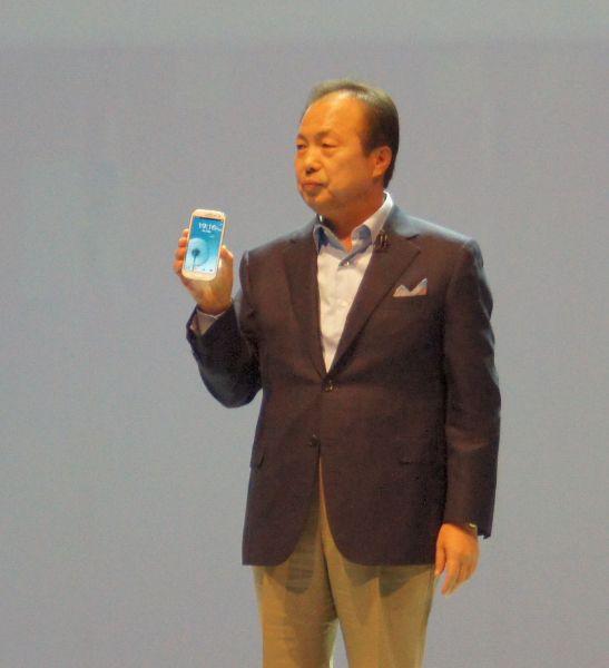 JK Shin mit dem Samsung Galaxy S3