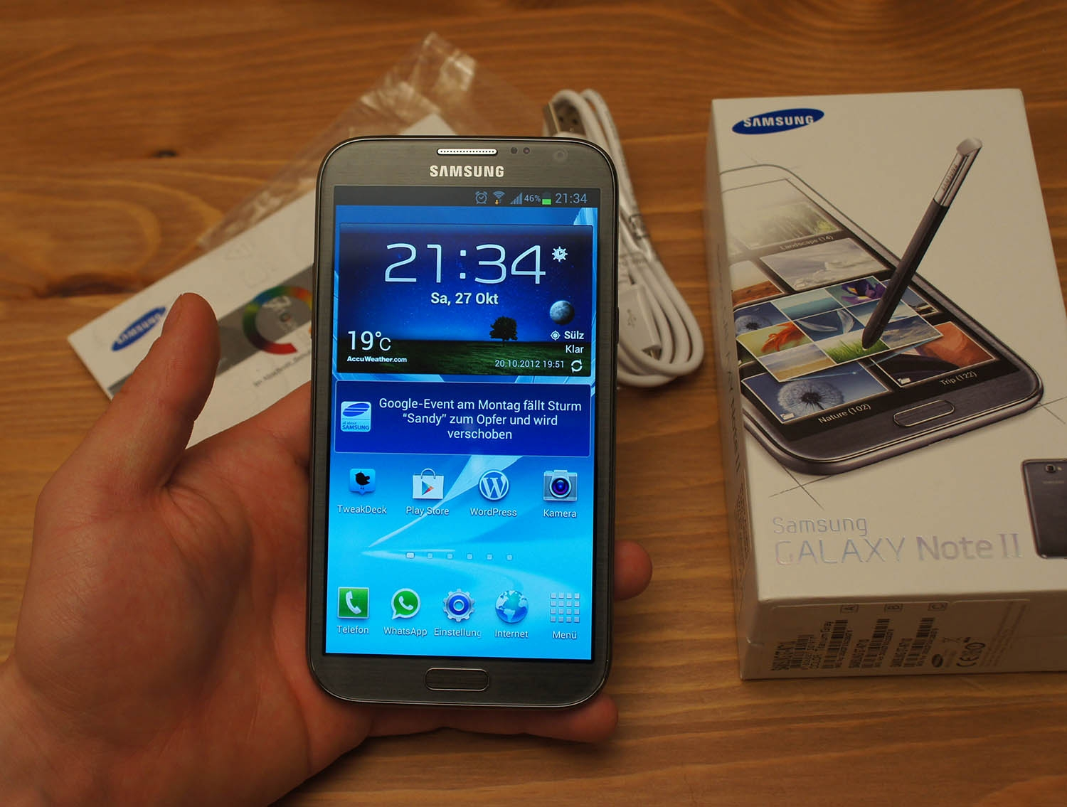 samsung galaxy note ii review testbericht das 5 5 zoll. Black Bedroom Furniture Sets. Home Design Ideas