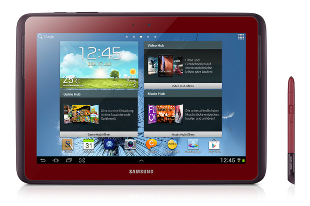 Galaxy Note 101 rot 1 620x413 Samsung Galaxy Tab 2 7.0 und 10.1 sowie Galaxy Note 10.1 in garnet red angekündigt