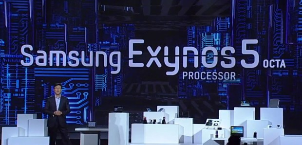 Samsung Exynos5octa CES 620x298 Samsungs Keynote mit flexiblen Displays, Octacore und Bill Clinton [Video]