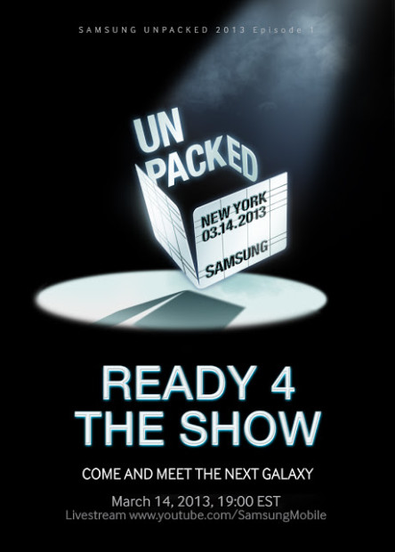2013 Unpacked Invitation Social 444x620 Samsung lädt ein: Präsentation des Galaxy S IV am 14. März in New York