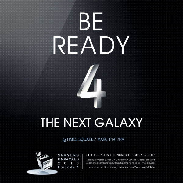 Samsung Galaxy S IV: Event am Times Square geplant