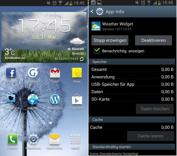 AccuWeather summertime 1 620x548 Samsung Wetter Widget von AccuWeather hat Probleme mit der Sommerzeit