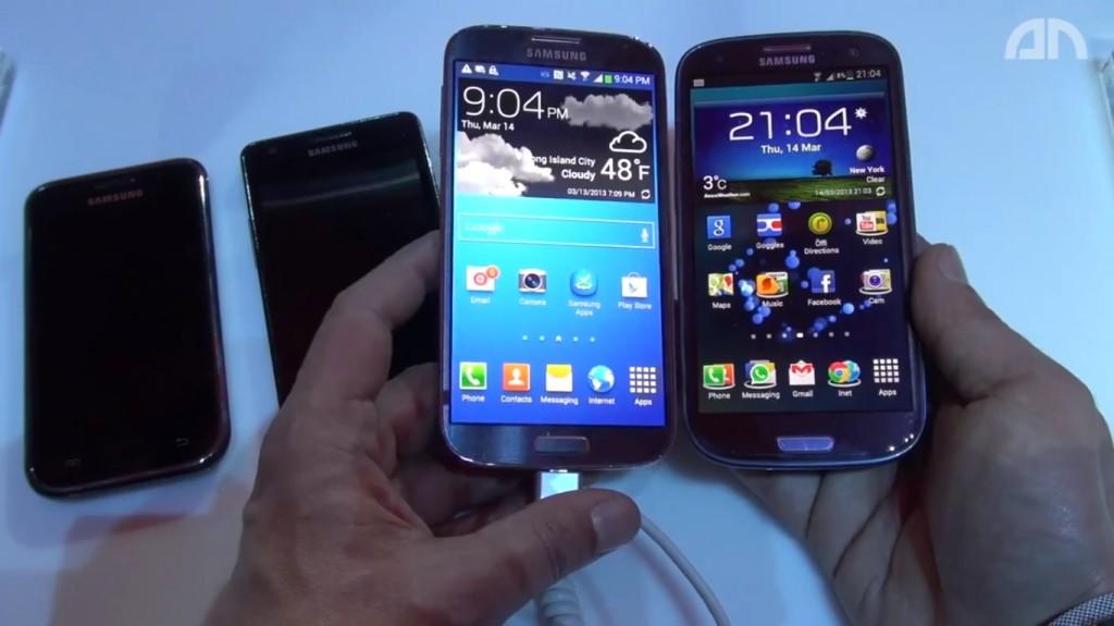 Samsung Galaxy S 4 vs Samsung Galaxy S III und den Rest der Familie