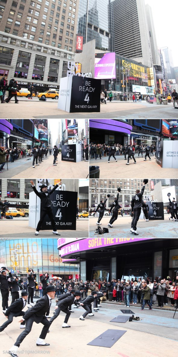 the next galaxy flashmob Samsung Galaxy S IV: Flashmob am Times Square [Video]