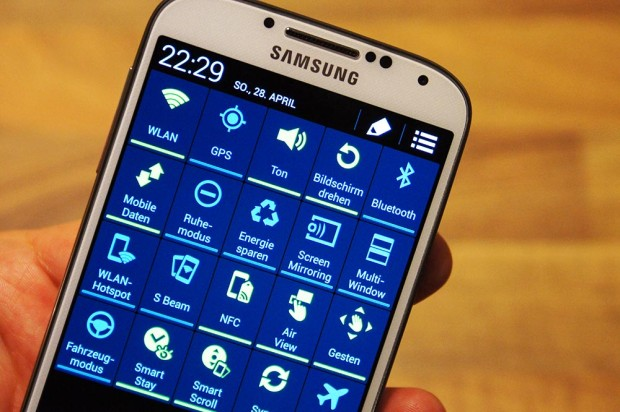 Toggles beim Samsung Galaxy S4