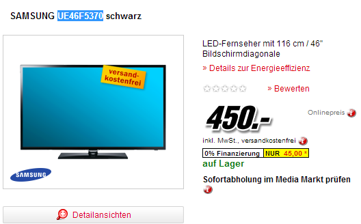 smart tv angebot