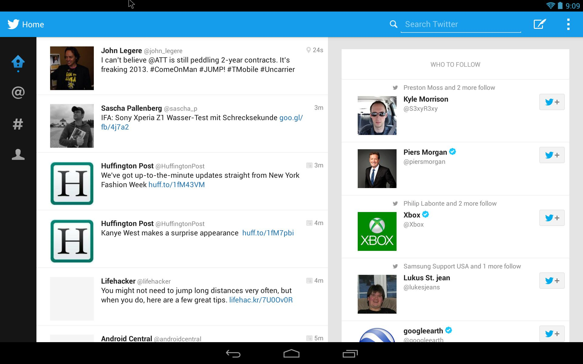 Leak] Tablet optimierte Twitter App vom Galaxy Note 20.20 20204 ...