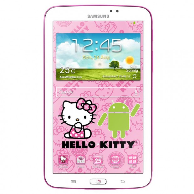 Samsung GALAXY Tab 3 7.0 Hello Kitty 1 620x620 Samsung zeigt Hello Kitty Version des Galaxy Tab 3 7.0
