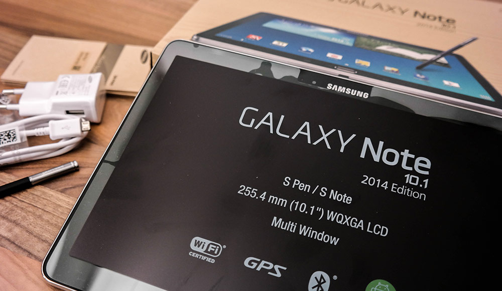samsung galaxy note 10 1 2014 edition unboxing und erster. Black Bedroom Furniture Sets. Home Design Ideas