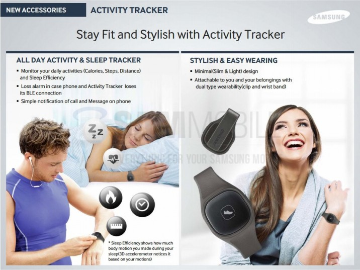 Activity Tracker 716x537 Neues Samsung S Band geleakt: Fitness Tracker für Galaxy S5 und Co.