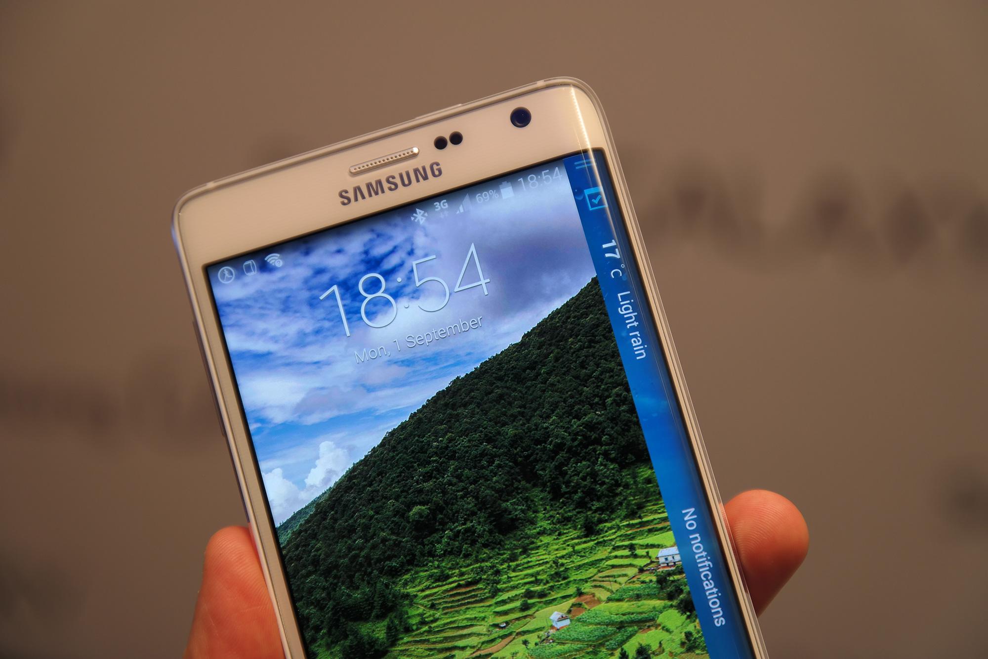 Samsung Galaxy Note Edge SM-N915 Hands-On deutsch