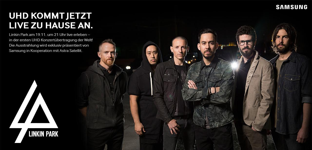 linkin park live in uhd samsung und astra bertragen am 19 november per satellit all about. Black Bedroom Furniture Sets. Home Design Ideas