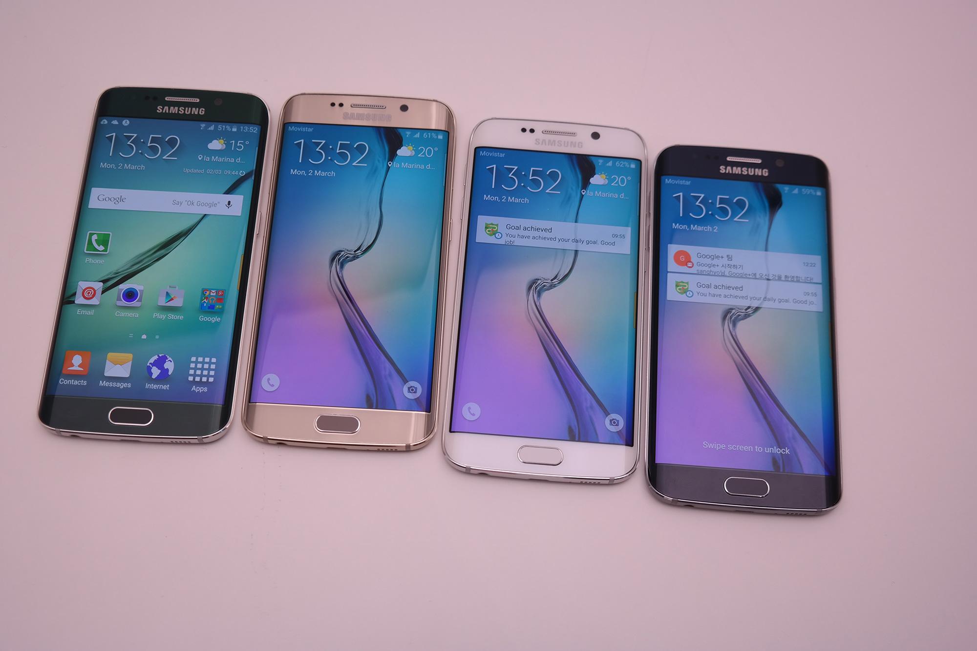 Samsung Galaxy S6 und Galaxy S6 Edge: Die Farben im ...