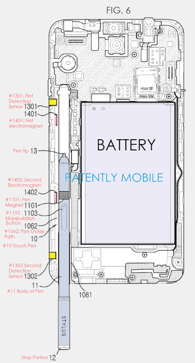 Samsungs-auto-ejectable-stylus-patent-application