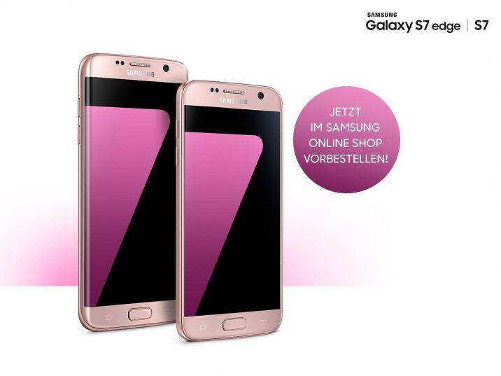 samsung galaxy s7 und galaxy s7 edge in der farbe pink gold ab mitte juni in deutschland all. Black Bedroom Furniture Sets. Home Design Ideas