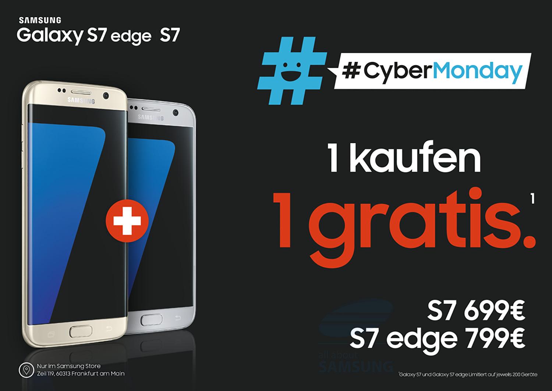 Cybermonday Zwei Galaxy S7 Oder S7 Edge Zum Preis Von Einem Im