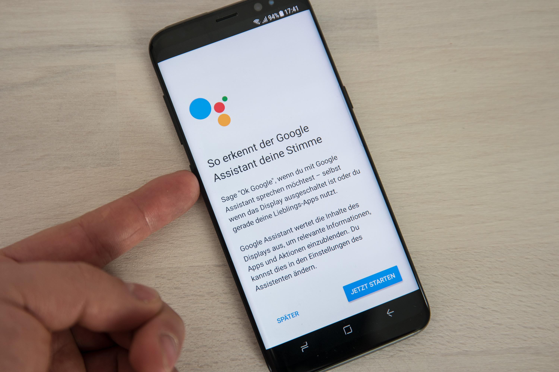 Galaxy S8 Bixby Button Lässt Sich Für Google Assistant Nutzen