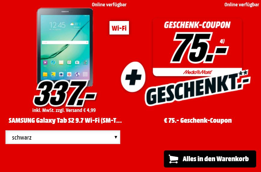 MediaMarkt Eier Feier: Angebote bei Samsung Tablets und