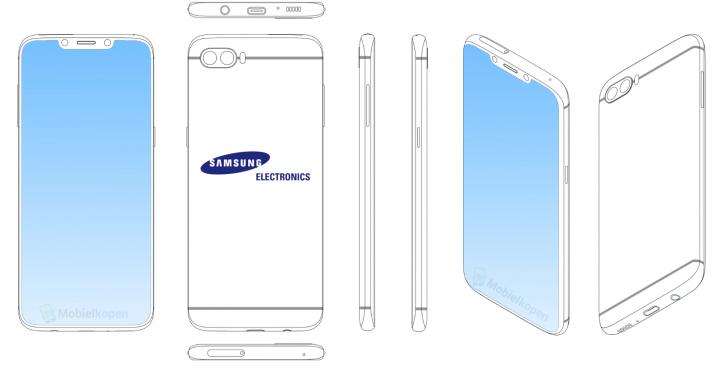 """Samsung Patent zeigt erneut Display mit """"Notch"""" und sehr dünnen Rändern"""