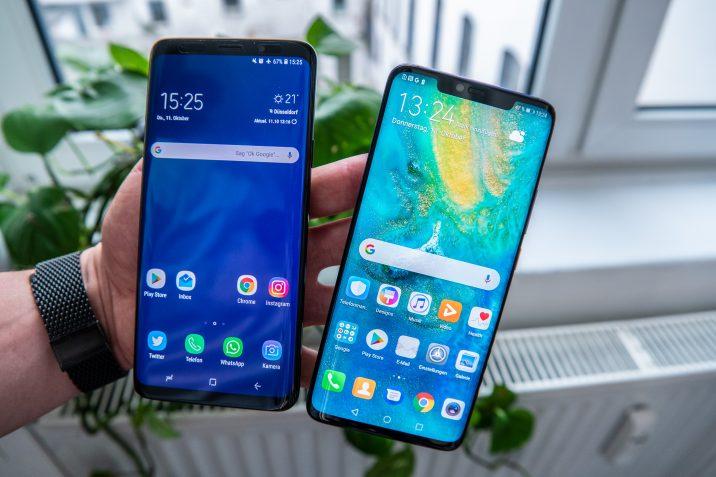 Huawei Mate 20 Pro Samsung Galaxy S9+
