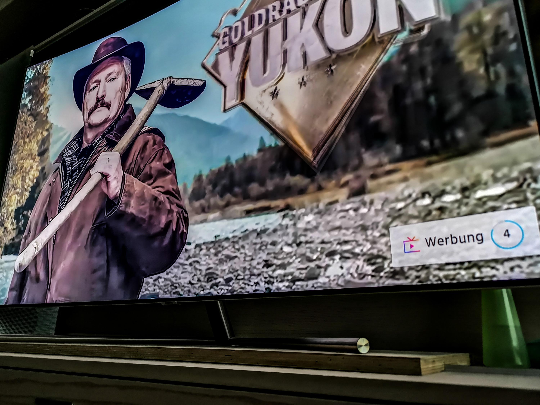 Samsung Fernseher mit TV Plus und Zwangswerbung: Wenig