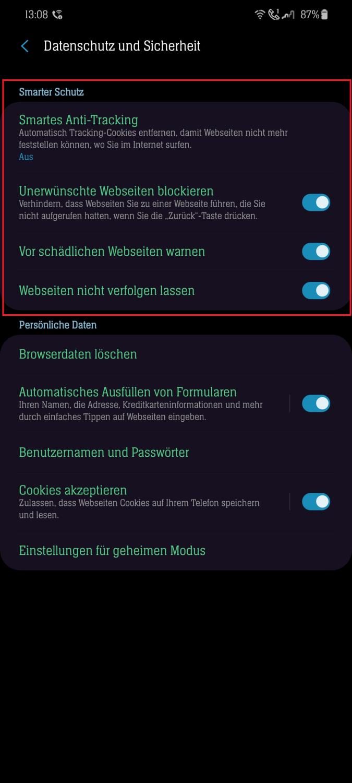 Samsung Internet Browser Deaktivieren